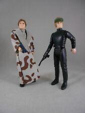 "Vintage Star Wars POTF/ROTJ - Luke ""Battle Poncho"" & Han ""Trench"" *Nice* Kenner"