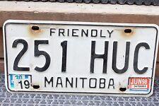 1998 Friendly Manitoba License Plate 251 HUC CAR TRUCK