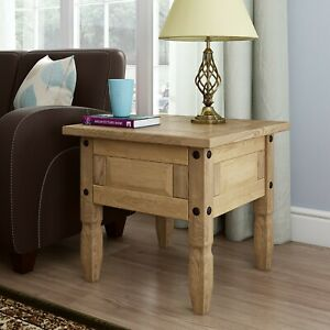 Corona Lamp Table Mexican Pine Occasional Coffee Side End Table