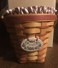 1996 Longaberger Sweetheart Basket with Liner and Protector