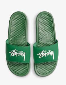 *Dead Stock* NIKE x STUSSY Slide Benassi Size Men's 7 Women's 8.5 Green