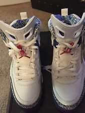 2007 Nike Air SPIZIKE 315371-163 White/Red/Blue Size 8 NEW  100% Authentic