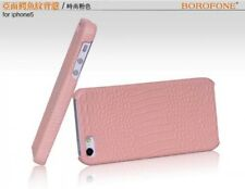BOROFONE HOCO Crocodile BACK COVER Leather Case for APPLE iphone 5/5s PINK H2431
