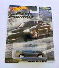 Hot Wheels 1/64 3 inch Nissan Silvia (S15) Fast & Furious Premium Series