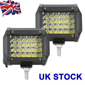 2x 480W LED Work Light Bar Flood Spot Lights Driving Lamp Offroad Car Truck SUV