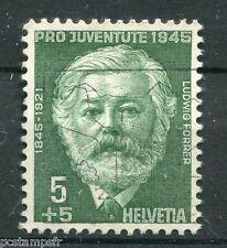SUISSE SCHWEIZ 1945, timbre 423, L. FORRER, CELEBRITE, CELEBRITY, oblitéré