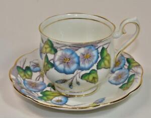Royal Albert Porcelaine Angleterre Fleur De Mois #9 Matin Glory Soucoupe Tasse