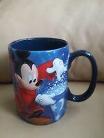 2017 Sorcerer Mickey Mouse raised embossed Mug Coffee Tea Cup Walt Disney World