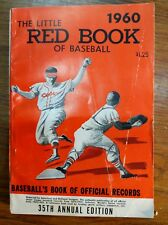 Vintage 1960 The Little RED Book of Baseball Very Good Condition