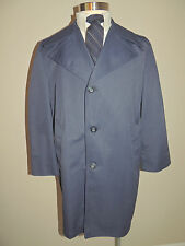 Vintage Mens Great Dane Blue Polyester Blend Short Trench Coat 45 Chest