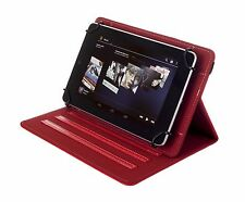 """NEW Kyasi Seattle Classic Universal Folio Case for 9-10"""" Tablets Rad Red"""