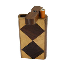 Smoking Handmade Harlequin Wooden Tobacco Cigarette Carrying Case