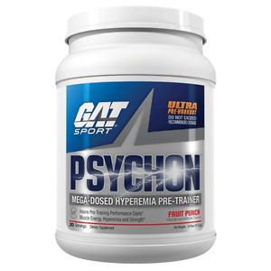 GAT PSYCHON 20 SERVE FRUIT PUNCH PRE WORK OUT ( EXPIRY 07/2020 ) GAT