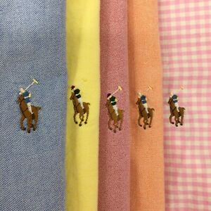 Lot of 5 Men's Ralph Lauren Button Down Shirts Logo Sz: Large 1 NWT