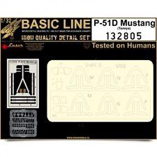 HGW 1/32 P-51D Mustang BASIC LINE: Seat Belts & Masks # 132805