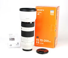 Sony FE 70-200mm F4 G OSS Telephoto E Mount Lens Boxed with Both Caps & Hood  VG