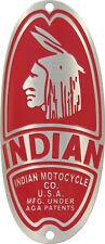 Indian 1937 Bike Badge Headtube Emblem Acid Etched Bicycles & Motorcycles