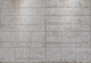 Photo Wallpaper Giant wall mural 144x100 inch Concrete blocks grey - no adhesive