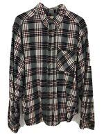 Woolrich Shirt Long Sleeve Button Down Cotton Plaid Flannel - Men Size XL