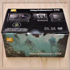 New Nikon Waterproof Wearable Camera Key Mission 170 BK Black 4K Wifi KeyMission