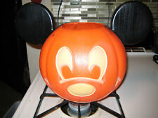 New listing Halloween Disney Mickey Mouse Face Orange Trick or Treat Bucket Tote Pail