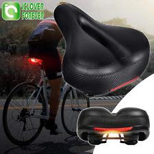 Comfort Bike Seat Pad Wide Gel Cruiser Bicycle Saddle Soft Cushion W/ Taillight