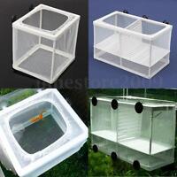 White Net Breeder Aquarium Tank Baby Fish Shrimp Tank Breeder Hatchery Kit Tool
