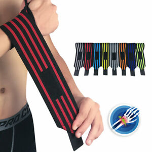 AU_ IC- FP- Elastic Supports Gym Training Fist Strap Power Weight Lifting Wrist