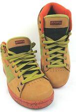 Men's Beige / Orange / Olive DVS Adage Style Trainers Size UK 9 - Mint Condition