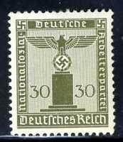 1938-42 Germany Nazi SCF1 1-STAMP Third Reich Hitler Swastika Deutsch WWII MLHOG