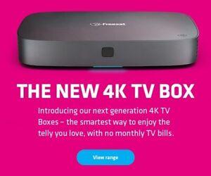 FREESAT 500GB UHD-4X SMART 4K UHD TV RECORDER *** MASIVE PRICE REDUCTION ***