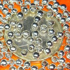 Balls Beads Plated Balls Bälle Couilles 800 round 0 1/8in Coated Silver T58