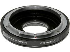 Adapter per montare obiettivi Canon FD su corpi Nikon con conferma messa a fuoco