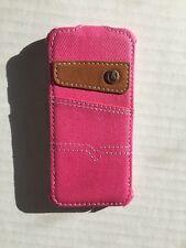 Texas Denim funda de teléfono 100% Premium Denim para iPhone 5/5s - Rosa