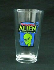 Roswell New Mexico Alien Drinking Bar Glass E.T. Space Ship Amber Ale Sierra Bla