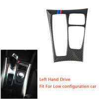 LHD Carbon Fiber Gear Shift Box Panel Cover Trim For BMW X5 E70 X6 E71 M Stripe