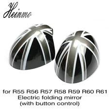 Union Jack Car Side Mirror Power Fold Cover Cap For MINI Cooper R55 R56 R57 R60
