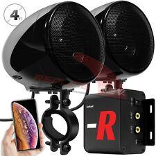 100W Amp Waterproof Bluetooth Motorcycle ATV Stereo Speakers System Audio Radio