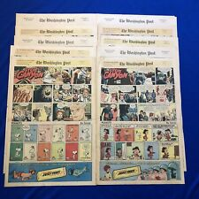 10 Sunday Newspaper Comics Strips 1969 Dick Tracy Captain Kate Steve Canyon
