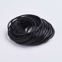 32.8FT/10M Black Cowhide Leather 2.5mm DIY Necklace Jewelry Craft Cord NO SPOOL