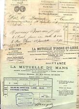 lot factures devis travaux sainte Maure de Touraine Indre-et-Loire 1869 1920
