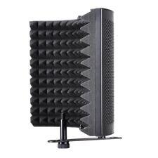 3 Fold Design Microphone Isolation Shield Studio Recording Absorber Foam Panel