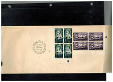 1952 South Africa Cover Block of 4 with tabs $120 121 Satise Sadifu