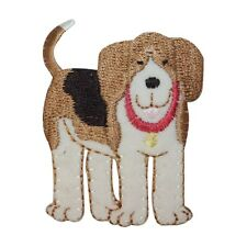 ID 2812 Fluffy Dog Patch Mutt Pet Canine Embroidered Iron On Applique