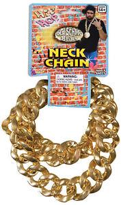BLING HIP HOP BIG LINK NECK GOLD CHAIN PIMP RAPPER COSTUME ACCESSORY FM64027