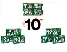 Cafe la LLave cuban coffee ground espresso cafe cubano (10 packs)