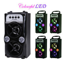 Bluetooth Haut-parleur Speaker Stéréo Extérieur Sans fil LED Portable TF/FM/USB