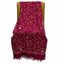Red Embroidered Kashmiri Shawl