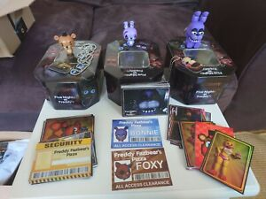FNAF Five Nights at Freddy's Rare Trading Cards, tins X 3,  dog chains