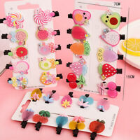 Colorful Flower Kids Girls Hair Clips Barrette Slide Grips Hairpins Accessories